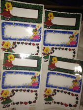 VTG SUZY'S ZOO STICKERS 12 SPAFFORD DUCKEN~DUCK CHRISTMAS NEW TAGS GIFT
