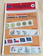 24 Packs Whitman Stamp #6612 200 United States State Seals Birds Flags Flowers