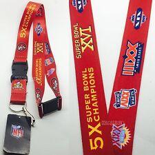 NFL San Francisco 49ers 5x super bowl champions  Keychain  Lanyard (clip on)