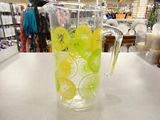Vintage Pyrex Lemon Lime Pitcher Juice Lemonade~EXCELLENT