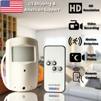 Security Camera Mini DVR Recorder PIR Pinhole Lens Covert Heat Motion Sensor