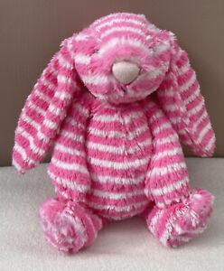 Jellycat Special Edition Hettie Bashful Bunny Rabbit Soft Toy Pink Stripe