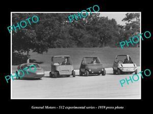OLD POSTCARD SIZE PHOTO GENERAL MOTORS 512 CONCEPT CARS LAUNCH PRESS PHOTO 1959