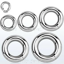 "2pcs. 12g 10g 8g 6g 4g 2g 3/8""- 5/8"" Surgical Steel Segment Ring Earrings Septum"