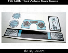 New Replacement Decals Stickers fits Vtg Little Tikes Cozy Coupe Car Light Blue
