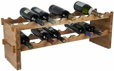 RTA Bamboo Modular Wine Rack. Buy a full wine rack or Extension Kit. From 9 Bott