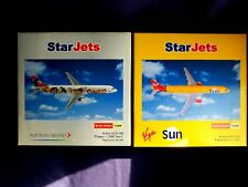 1:200 Starjets Schuco Austrian & Virgin Sun A321 Pinzgau 1000 Years Display NEW