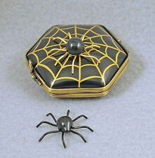 NEW FRENCH LIMOGES TRINKET BOX HALLOWEEN SPIDER WEB W SPIDER & REMOVABLE SPIDER