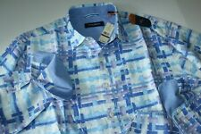 Tommy Bahama Shirt Shoreline Breezer Aleutian Night Blue LS New XX-Large Big 2XB