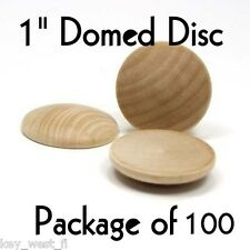 """DOME CIRCLE ~ 1"""" ~ Wood Cutout Craft Shape ~ Unfinished { Lot of 100 } ~ by PLD"""
