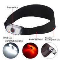 Stirnlampe COB LED Wiederaufladbar USB Kopflampe wasserdichte Stirnlampe