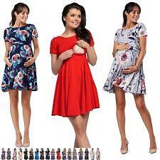 Zeta Ville Women's Maternity Breastfeeding Nursing Summer Swing Dress. 084p