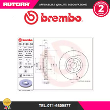 09518030-G Coppia dischi freno ant Alfa Romeo-Fiat-Lancia (BREMBO)