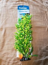 "New listing Aquarium Fish Tank Top Fin 16"" Green Tree Plant Decoration With Base"