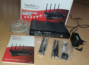 Draytek Vigor 2926Vac Router WLAN VPN VOIP Dual WAN OVP Security