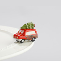 Nora Fleming Christmas Mini Just Like the Griswolds Woody with Tree Charm A147