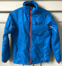 H&M KIDS Boys Turquoise Blue Orange Quilted Padded Puffer Coat Jacket 10-11