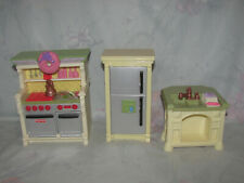 Fisher Price Loving Family Dollhouse Kitchen - Fridge, Stove, Island, Sounds