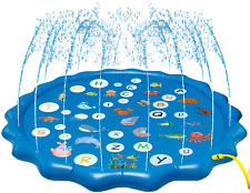 Arfbear Splash Pad for Toddlers, Sprinkler for Kids Summer Outdoor Water Party