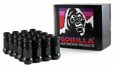 "Gorilla Forged Racing Lug Nuts Kit 14-1.50 Thread, 3/4"" (19mm) Black 45148BC-20"