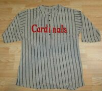 St. Louis Cardinals XL 1919 Gray Pinstriped Button Front SGA Giveaway JERSEY