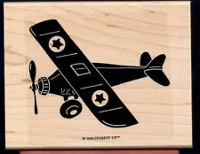 AIRPLANE PLANE Propeller Fly Decorative Airplane STAMPIN UP! 1988 RUBBER STAMP