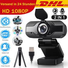 1080p Full HD 30FPS Webcam USB2.0 Mit Mikrofon Webkamera für Laptop PC+Halterung