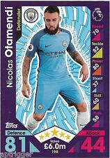 2016 / 2017 EPL Match Attax Base Card (168) Nicolas OTAMENDI Manchester City