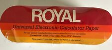 Royal Universal Electronic Calculator Paper THREE ROLLS 57mm x 70mm NOS NEW