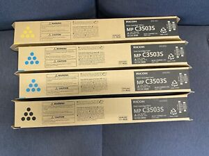GENUINE Ricoh MP C3503S / C3503 CYAN black yellow Toner Cartridge