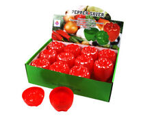 2x RED PEPPER SAVER Keeper Store Container Fresher For Longer Clearance Sales