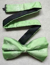 Nuevo De lujo seda MENS corbata de Moño Bowtie Pluma Diseño De Gancho De Pesca Verde Brillante