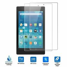 "2PC Genuine Tempered Glass Screen Protector For AMAZON KINDLE FIRE 7"" 8"" 10"""