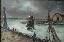 Original O/B Painting Honfleur Harbour by Achille-Emile Othon Friesz (1879-1949)