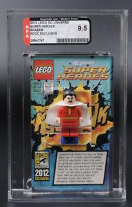 LEGO DC SHAZAM MINI FIGURE 2012 SDCC COMIC CON AFA 9.5