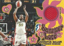 2002 FLEER ULTRA WNBA SUMMER OF LOVE GAME WORN JERSEY JENNIFER GILLOM MERCURY