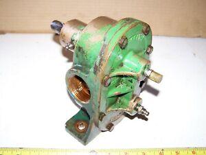 """CONTINENTAL 1 1/4"""" NPT Brass Pedestal Belt Drive Water Gear Pump Steam Hit Miss"""