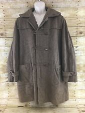 Vtg Alpen Loden Wool Trench Coat Hunting 48R Toggle Button Brown West Germany XL