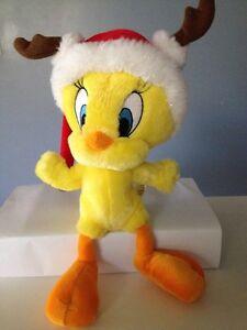 "☀️ TWEETY Santa Hat Plush Bird Hallmark Cards Looney Tunes Stuffed Animal Toy 9"""