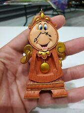 Authentic Disney Cogsworth Clock Ornament Beauty Beast Collectible Memorabilia