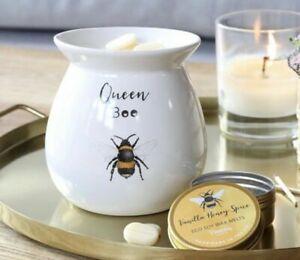 🐝Queen Bee Flower Gift set Oil burner & tin of Honey wax melts