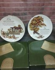 Avon 5th and 10th Anniversary Collectors Plates. Great Oak Perfume Company.Set 2
