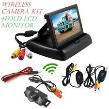 "Wireless HD Car Front Rear Reversing Plate Camera Kit + 4.3"" Fold LCD Monitor"