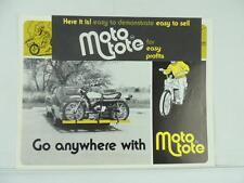 Vintage Moto Tote Motorcycle Rack Yamaha Suzuki Honda Kawasaki Brochure L2221