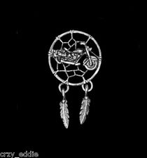 MOTORCYCLE DREAMCATCHER BIKER VEST PIN DREAM CATCHER JACKET  * MADE IN USA *