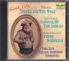Yoel LEVI: PROKOFIEV Sneaky Pete and the Wolf SAINT-SAENS Carnival of Aimals CD