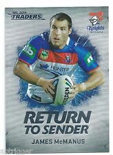 2014 NRL Traders Return To Sender (RTS 15) James McMANUS Knights
