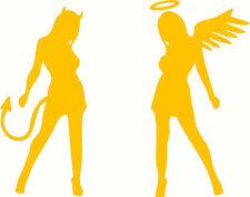 Good Girl Bad Girl, Angel, Devil #8 Naked Lady Sticker Decal Set