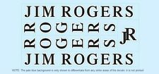 Jim rogers bicyclette decals-transfers-autocollants #1
