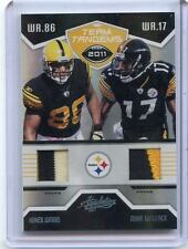 2011 ABSOLUTE #24 HINES WARD & MIKE WALLACE PATCH #25/25 - PITTSBURGH STEELERS